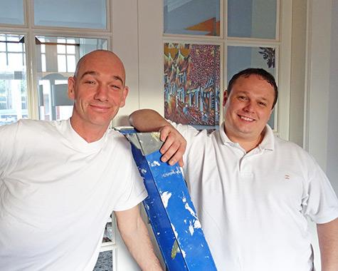 Schilders van schildersbedrijf Heuwenberg uit Hengelo